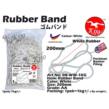 RB-WW-1KG White Rubber Band 1KG