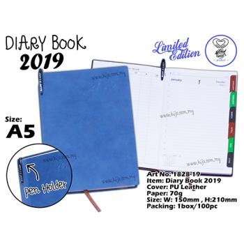 1828-19 Diary Book 2019 - Blue