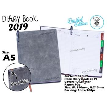1828-19 Diary Book 2019 - Grey