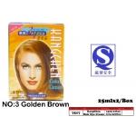 7517-3 Kang Chen Hair Dye Cream No:3 Golden Brown