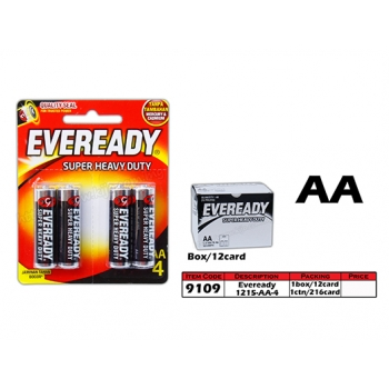 9109 Eveready Super Heavy Duty 1215 - AA x 4pc