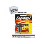 9330 Energizer Battery MAX AAA E92 BP-6(B4G2)