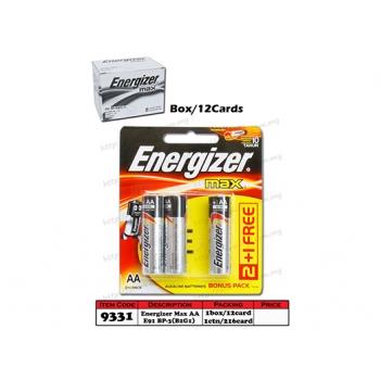9331 Energizer Battery MAX AA E91 BP-3(B2G1)