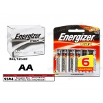 9364 Energizer Max AA Battery 6pc Value Pack