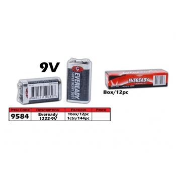 9584 Eveready Super Heavy Duty 1222 - 9V Battery