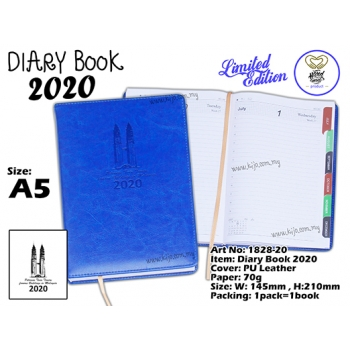 1828-20 Diary Book 2020 - Blue