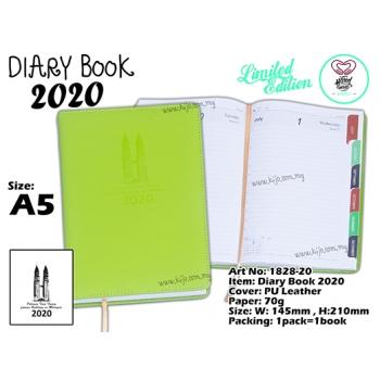 1828-20 Diary Book 2020 - Green