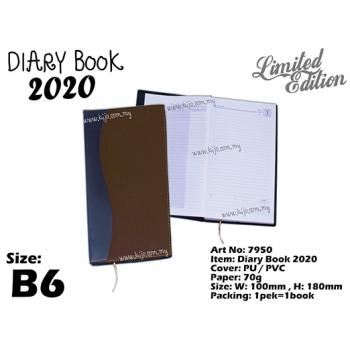 7950 Diary Book 2020 - B6 - Brown