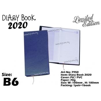 7950 Diary Book 2020 - B6 - Blue2