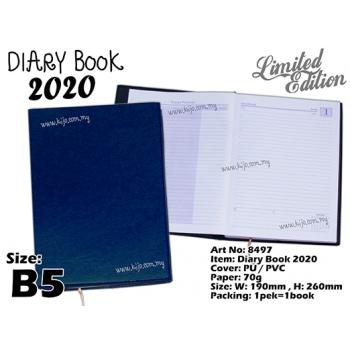 8497 Diary Book 2020 - B5 - Blue2