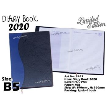 8497 Diary Book 2020 - B5 - Blue