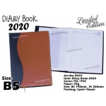 8497 Diary Book 2020 - B5 - Brown Yellow