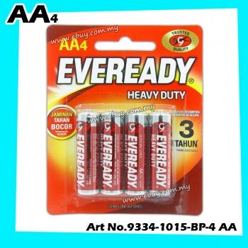 EVEREADY Heavy Duty Batteries AA (4 Pcs) 1015BP4