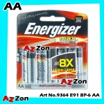 Energizer Max + Powerseal AA E91 Value Pack Alkaline Batteries 6pcs 100% Original Product Energizer