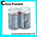 Eveready Heavy Duty C-size/format No.1235 1.5v 1pack=2pcs 100% Original Product Eveready