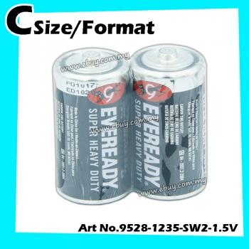 Eveready Heavy Duty C-size/format No.1235 1.5v 1pack=2pcs 100% Original Product Eveready