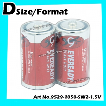 Eveready Heavy Duty D-size/format No.1050 1.5v 1pack=2pcs 100% Original Product Eveready