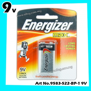 Energizer Max Long Lasting Power 9V Alkaline Batteries 1pcs 100% Original Product Energizer