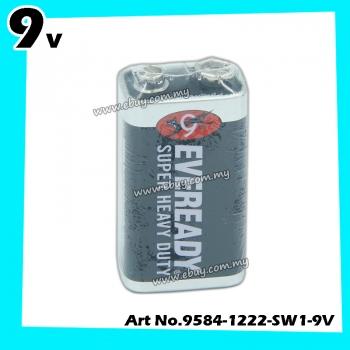Eveready Super Heavy Duty 9V Alkaline Batteries 1pcs 100% Original Product Eveready