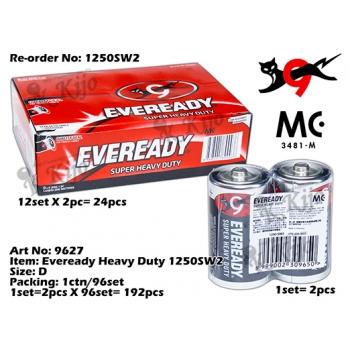 9627 Eveready 1.5V Carbon Zinc Battery D size