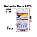 0505-2020 Kalendar Kuda 2020 Senarai Cuti Umum & Cuti Sekolah Tahun 2020