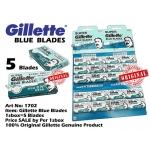 1702 Gillette Blue Blades