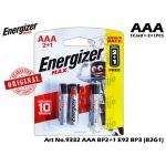 9332 Energizer Max E92 AAA 2+1