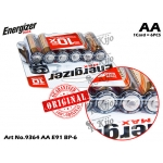 9364 Energizer Max E91 BP-6 AA 1CARD=6PCS