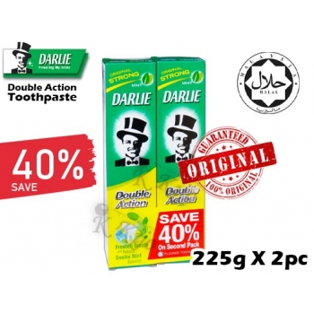 Darlie Toothpaste Original Strong Mint Double Action  225g X 2pc