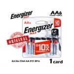 Energizer Max 10x AA E91 Value Pack Alkaline Batteries 1card=6pcs 9364