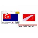 1613 5x10ft Johor Flag