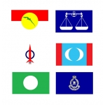 Malaysia Political Parties Flag