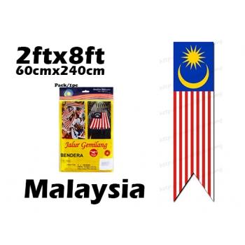 6537 60cm X 240cm Malaysia Flag **