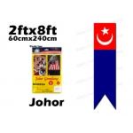 6974 60cm X 240cm Johor Flag