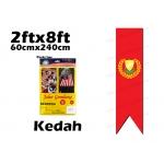 60cm X 240cm Kedah Flag