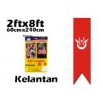60cm X 240cm Kelantan Flag