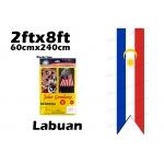 60cm X 240cm Labuan Flag