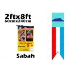 60cm X 240cm Sabah Flag