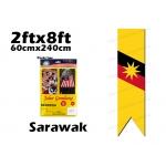 60cm X 240cm Sarawak Flag