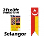7294 60cm X 240cm Selangor Flag