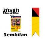 60cm X 240cm Sembilan Flag