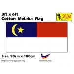 Cotton Melaka Flag Size: 90cm X 180cm ( 3ft x 6ft )