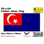 Cotton Johor Flag Size: 90cm X 180cm ( 3ft x 6ft )