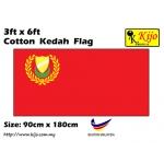 Cotton Kedah Flag Size: 90cm X 180cm ( 3ft x 6ft )