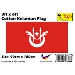 Cotton Kelantan Flag Size: 90cm X 180cm ( 3ft x 6ft )