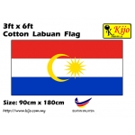 Cotton Labuan Flag Size: 90cm X 180cm ( 3ft x 6ft )