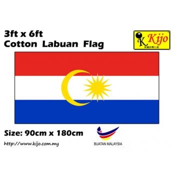 Cotton Labuan Flag Size: 90cm X 180cm ( 3ft x 6ft )