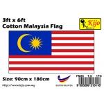 90cm X 180cm Cotton Malaysia Flag