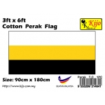 Cotton Perak Flag Size: 90cm X 180cm ( 3ft x 6ft )