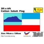 Cotton Sabah Flag Size: 90cm X 180cm ( 3ft x 6ft )